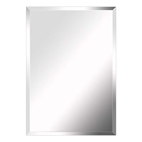 MIRROR TREND 24 x 36-Inch Premium Large Rectangular Frameless Wall Mirror with - Mirrors Bathroom Large Rectangular