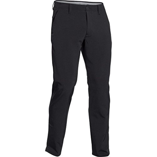 2015 Under Armour Storm Elemental Matchplay Thermal Pants Mens Golf Flat Front Trousers Black 42x36