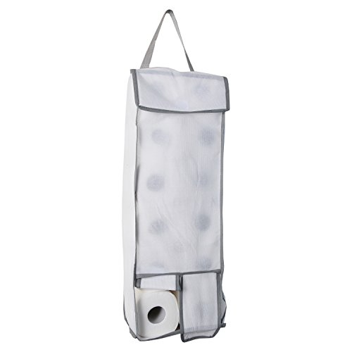 Home-X Hanging Toilet Paper Storage Holder. Holds up to 12 Rolls