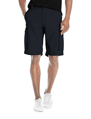- Agile Mens Super Comfy Flex Waist Cargo Shorts ASH45168 Navy 36