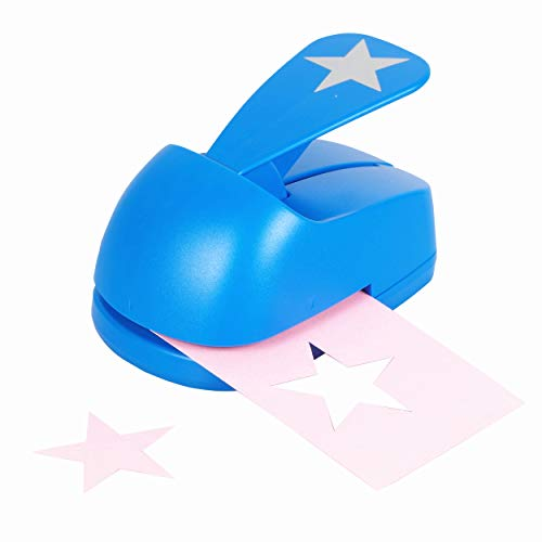 Craft Lever Punch 2 inch DIY Handmade Star Paper Punch (Blue Star Punch) ()
