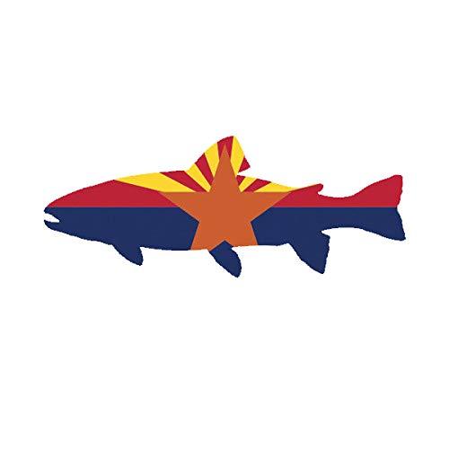 EW Designs Arizona State Shaped Trout Sticker Decal Vinyl AZ Fly Fishing Fish Bumper Sticker Vinyl Sticker Car Truck Decal 5