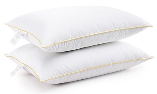 Set of 2 Hotel Quality Extra Plush Luxurious Gel Fiber Filled Standard / Queen Size Bed Pillows, 20