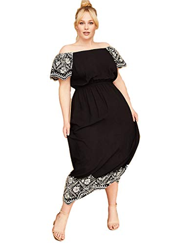 Lane Bryant Dress - Lane Bryant Embroidered Off The Shoulder Maxi Dress(28)