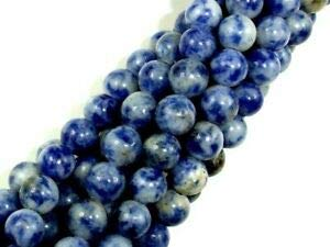 (Blue Spot Jasper Beads, Round, 6mm (6.5mm), 15.5 Inch (153054003) Crafting Key Chain Bracelet Necklace Jewelry Accessories Pendants)