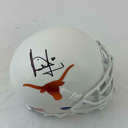 (Vince Young Signed Texas Longhorns Mini Football Helmet (COA) - Tristar Productions Certified - Autographed College Helmets)