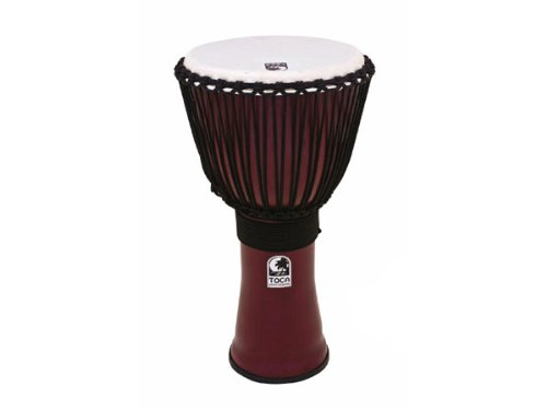 Toca TF2DJ-9R 9'' Freestyle II Rope Tuning Djembe - Dark Red by Toca
