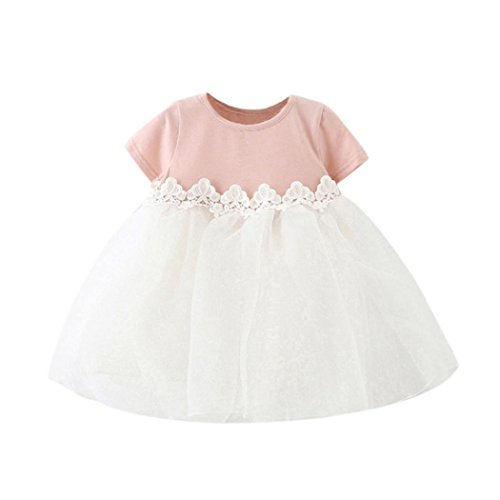KpopBaby Cute Bow Baby Girl Safe Princess Bridesmaid Pageant Birthday Party Wedding Dress