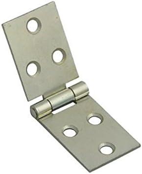 "PK OF 2 Back Flap Box Hinge 1 1//4 /"" 32mm Backflap /& Screws"