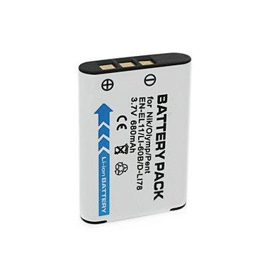 SS- 680mAh 3.7V NP-BY1 EN-EL11 /LI-60B /DLI-78 Camera Battery Pack for Sony HDR-AZ1V AZ1VR Olympus FE-370