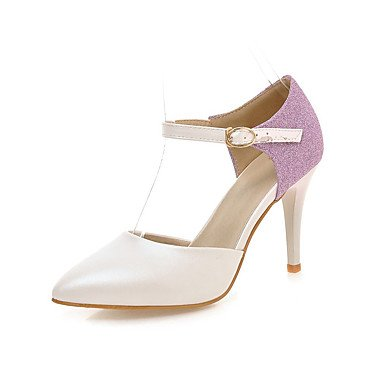 LFNLYX Sandalias mujer Primavera Verano Otoño otros PU Oficina Exterior & Carrera Stiletto talón Casual Otros Azul blanca rosada Otros Pink