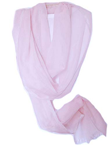Eileen Fisher Ethereal Cashmere w/Sparkle Edge PALE PINK Wrap Scarf MSRP $218.00 (Accessories Fisher Eileen)