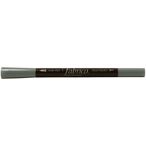 Tsukineko Dual-Ended Fabrico Marker Color-Fast, Sky Mist Blue ()