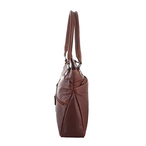 Rada Nature Kurzgrifftasche Douglas echt Leder Handtasche in verschiedenen Farben sandal/tan