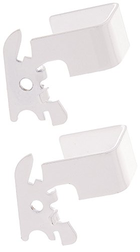 Wall Control 10-CB-011 W C-Bracket Slotted Metal Pegboard Hook for Wall Control Pegboard Only, 1 x 1, White