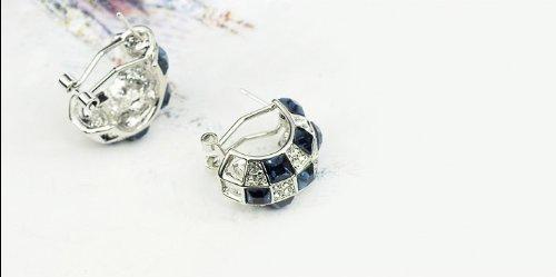 Galaxy Fashion Jewellery Parure boucles d'oreille et pendentif avec cristaux Swarovski Fini or 18 carats