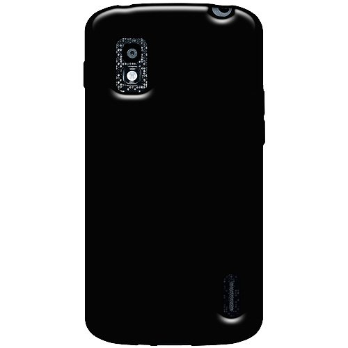 Amzer 95473 Soft Gel TPU Gloss Skin Case - Black for Google Nexus 4 E960, LG Nexus 4 E960