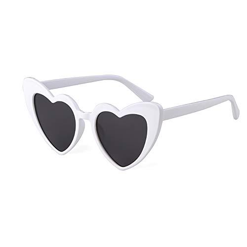Love Heart Shaped Sunglasses Women Vintage Cat Eye Mod Style Retro Glasses for $<!--$2.40-->