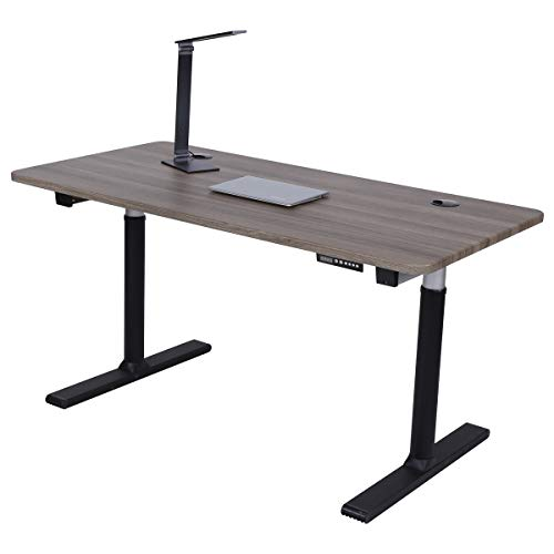 ApexDesk Vortex Series 60″ 6-Button Electric Height Adjustable Sit to Stand Desk (Memory Controller, Fox Teakwood Top)