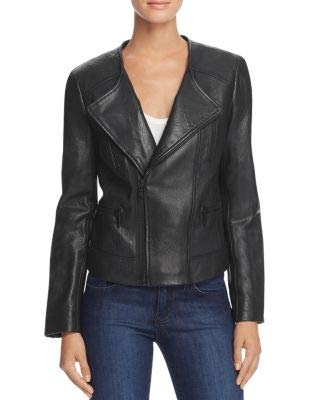 Joie $998 Womens New 1364 Black Leather Motorcycle Jacket XS B+B