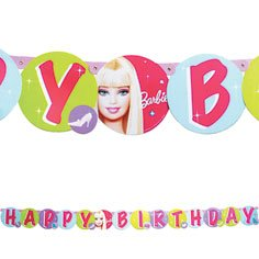 Barbie All Dolled Up Happy Birthday Banner