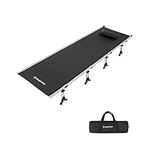 KingCamp Lightweight Portable Folding Camping Cot, Heavy Duty High Off Ground Sleeping Bed for Adults, Great for Indoor…