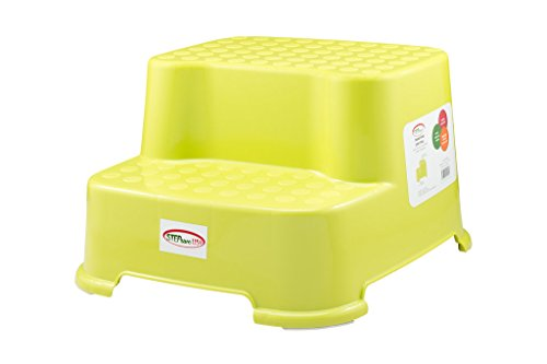 Slip Around (StepSafe® Step Stool 2 Step -For kids and Adults • Non Slip Surface and Feet • For Potty, Bathroom and Kitchen • High Quality Safe Materials • 200 LB Capacity, 8