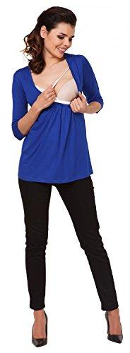 donna Maglia shirt per allattamento 372c Top 1 Blu T Zeta Royal prémaman 2 Ville in SXn5Pq