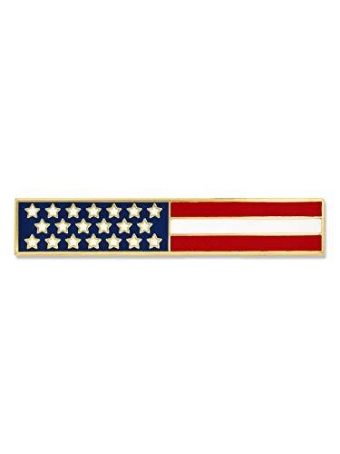 PinMart American Flag USA Citation Bar Police Officer Firefighter Lapel Pin