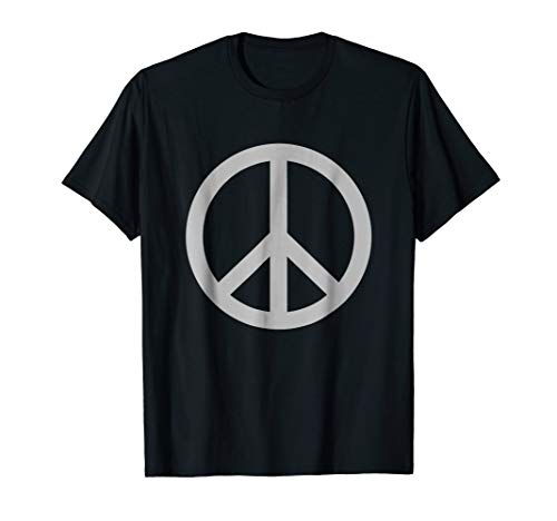 Gray Peace Sign T-Shirt