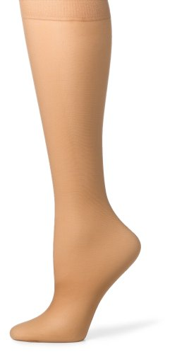 Hanes Silk Reflections Women's Silky Sheer Sandalfoot Kneehighs, Little Color, One Size (Pack of 6)