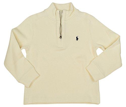 Polo Ralph Lauren Boys Half-Zip Ribbed Sweater (5, Chic Cream) -