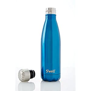 S'well Vacuum Insulated Stainless Steel Water Bottle, Double Wall, 17 oz, Ocean Blue