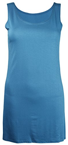 - PurpleHanger Women's Scoop Neck Vest Tee Tank Top Plus Size Teal Size 18-20