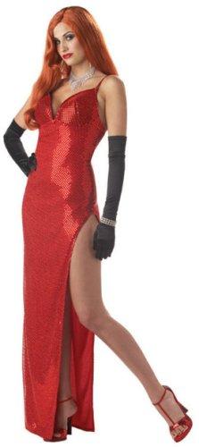 Adult Jessica Rabbit Dress Costume (Size:MD 8-10)