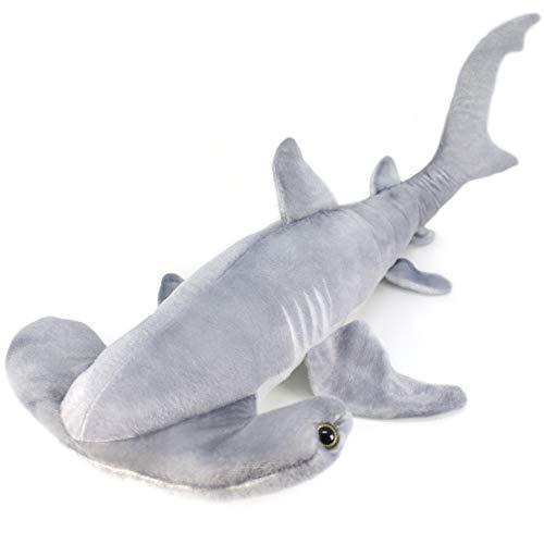VIAHART MC The Hammerhead Shark | Over 2 1/2 Foot Long Large Hammerhead Shark Stuffed Animal Plush | by Tiger Tale Toys (Hammerhead Plush Toy Shark)