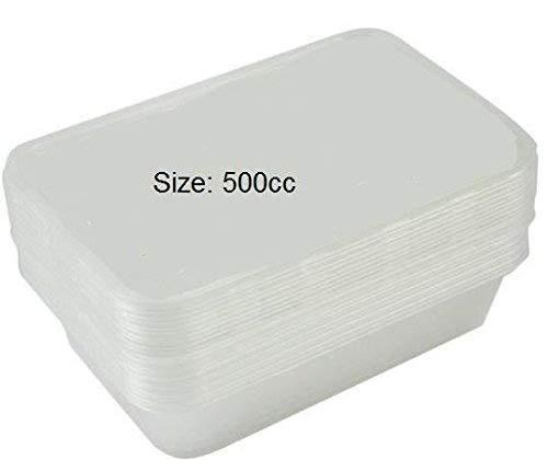 Fiambreras de plástico para microondas, con tapa, aptas para ...