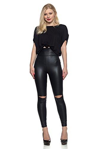 J2 Love Women S Knee Slit Faux Leather Legging Buy