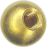 49 5/8'' threaded 1/4-20 brass balls drilled tapped lamp finials