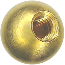 122 5/8'' threaded 1/4-20 brass balls drilled tapped lamp finials by Bearing Ball Store