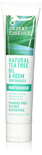 Desert Essence Natural Tea Tree Oil and Neem Toothpaste, 176g (6.25 (Tea Tree Oil Eco Harvest)
