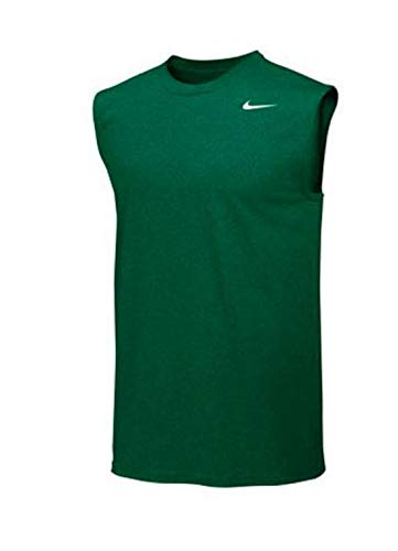 Nike Mens Legend Dri Fit Sleeveless T Shirt (Green, X-Large)