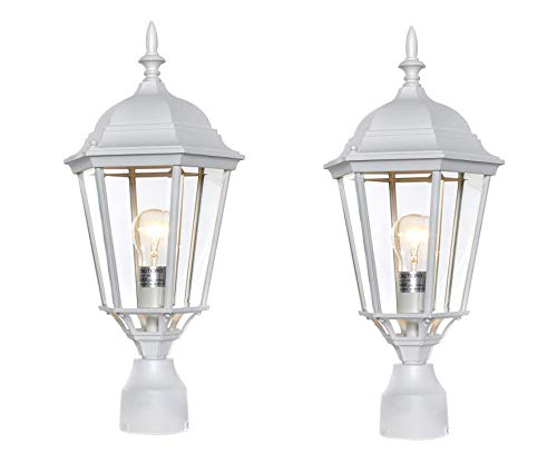 Maxim Westlake Cast Aluminum Outdoor Post Lighting (White - 2 Pack)