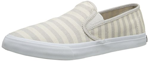 Sperry Top-Sider Women's Seaside Breton Stripe Fashion Sneaker, Sand/Gold, 11 M US