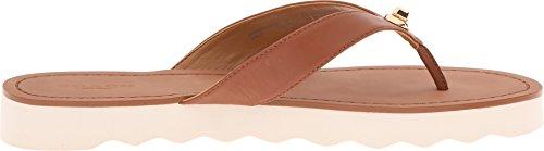 Saddle Flip Flop Semi Shelly Women Coach Open Toe Leather Calf Matte Sandal XF8xqHw