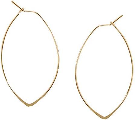 Marquise Threader Big Hoop Earrings product image
