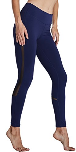 0f6ced33dc Komprexx Womens Yoga Pants Mesh Workout Leggings with Pockets Exercise  Fitness Gym Tights Activewear (16K