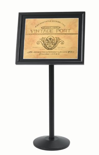 Single Pedestal Broadcaster- Black Frame with Menu Holder ()