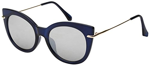 Edge I-Wear Retro Style Cat Eye Sunnies w/Color Mirror Lens - Eye Sunnies Cat