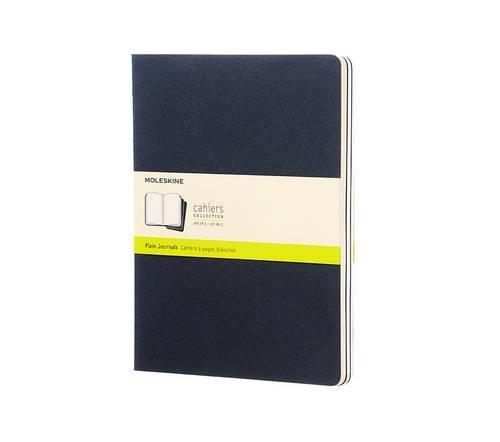 Cahier Extralarge Plain Blue Cover (Moleskine Srl)(set of 3) (Journal Plain Blue)